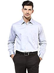GIVO Gold Class Grey Solid Formal Shirt