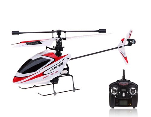 WL TOYS V911 2.4G 4-Channel Alloy RC Helicopter with Single Propeller Double Motors (White) + Worldwide free shiping