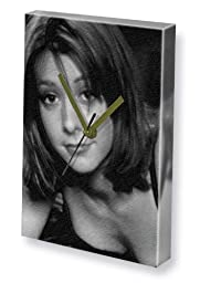 ALYSON HANNIGAN - Canvas Clock (A4 - Signed by the Artist) #js007