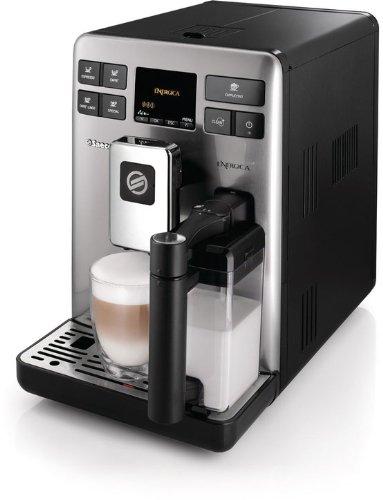 Saeco HD8852/01 Kaffee-Vollautomat Energica Focus (1.6 l, 15 bar, 1400 Watt, integriertes Milchsystem ) schwarz-silber thumbnail