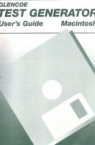 Glencoe Test Generator User's Guide Macintosh PDF