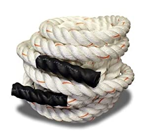 Buy Poly Dacron Training Fitness Battle Exercise Undulation Rope - 100 FT 1.5 White by Cielo - Blue