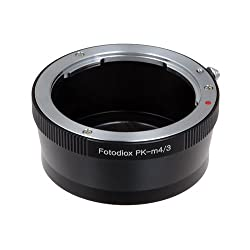 Fotodiox Lens Mount Adapter Pentax K (PK) to Micro 4/3 Olympus PEN and Panasonic Lumix Cameras