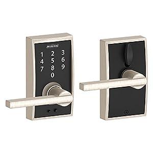 Schlage Touch Century Lock with Latitude Lever (Satin Nickel) FE695