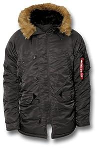Alpha Industries Extreme Cold Weather N3B Parka Jacket (Large, Black)