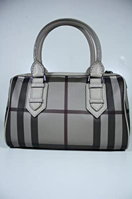 Burberry Handbags Gray Trench Check and Leather 3690441