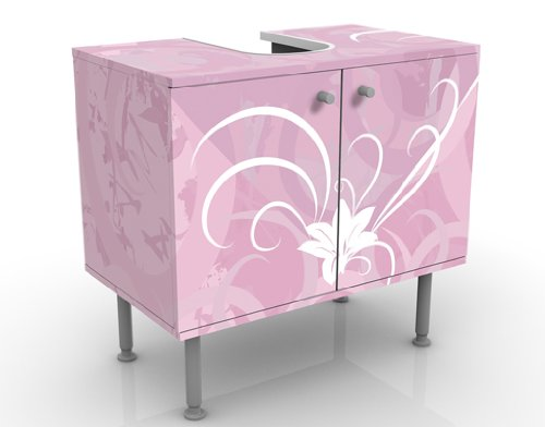 WTD mantiburi Design Waschtisch Airy Love  Waschbeckenunterschrank SPIEGELVERKEHRT/ SEITENVERKEHRT / Vollflächiger Premium Print / 60x55x35cm
