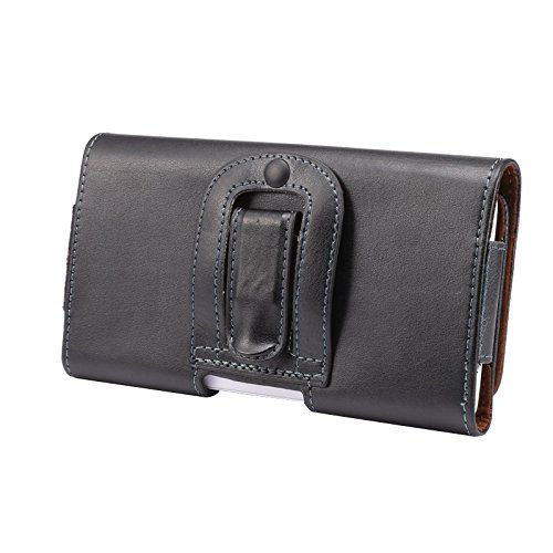 iPhone 7 Plus/6S Plus/6 Plus Holster, Tading Premium Genuine Leather Pouch Sleeve Holder Carrying Case with Belt Clip and Loops for Apple iPhone 7 6S 6 Plus 5.5 Inch - Black (Samsung Note 3 Platinum Case compare prices)