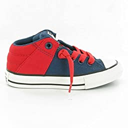 Converse Unisex Baby Chuck Taylor All Star Axel Mid (Inf/Tod) - Navy/Red - 5 Infant