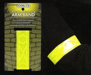 Jog-A-Lite Inc Jogalite Reflective Lime armband