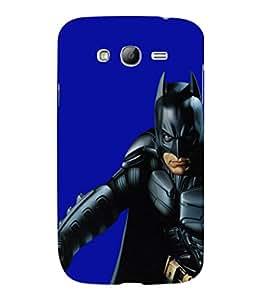 printtech Superhero Black Back Case Cover for Samsung Galaxy Grand Neo Plus::Samsung Galaxy Grand Neo Plus i9060i