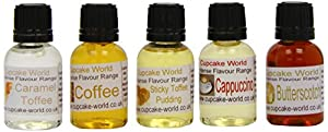 Cupcake World Intense Food Flavourings Toffee-n-Coffee Pack 28.5 ml (Pack of 1, Total 5 Flavours)