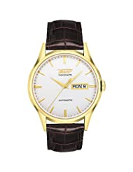 Men's Visodate Automatic Light Silver Dial Brown Leather