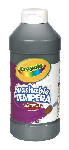 Crayola Artista II Washable Tempera Paint 16oz Black