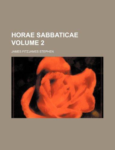 Horae sabbaticae Volume 2