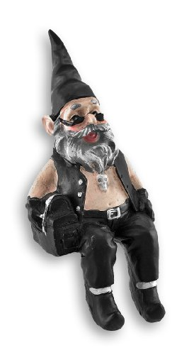 Gnoschitt Biker Gnome Shelf Sitter 6 In.
