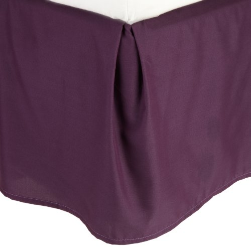 Lamma Loe'S Solid Tailored Bed Skirt/Dust Ruffle, Queen, Eggplant Purple front-594973