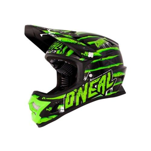 O'Neal Fury Fidlock DH Helm Evo Crawler schwarz/grün Downhill Mountainbike MTB, 0499C-1, Größe Medium (57 - 58 cm)