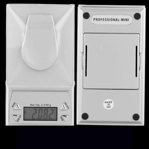 SODIAL (R)BALANCE DE POCHE ELECTRONIQUE PRECISION 0.001-10 GRAMME 4 UNITES