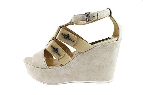 CESARE PACIOTTI 4US sandali donna 40 EU beige camoscio vernice AG46