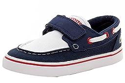 Lacoste Keel 116 2 Boat Shoe (Toddler/Little Kid/Big Kid), Navy/White, 4 M US Toddler