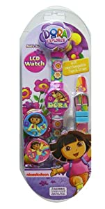 Nick Jr Dora The Explorer Watch - Dora Watch w/ Interchngeable Tops and Band s - Girls Watch