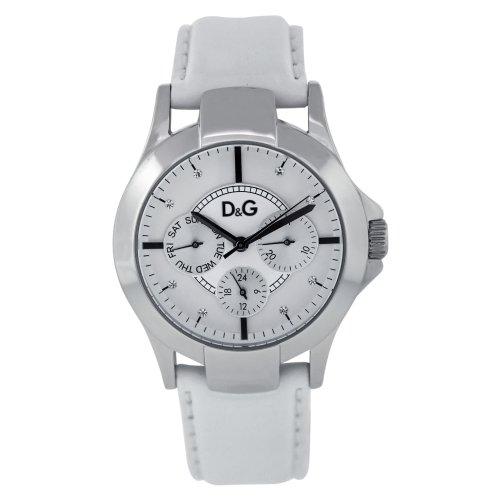 Dolce & Gabbana D&G - Reloj para mujer con correa de acero inoxidable, color blanco