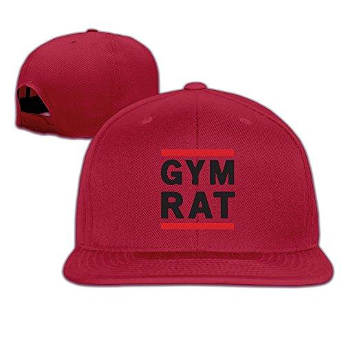 k-fly2-adjustable-gym-rat-baseball-caps-hat-unisex-red
