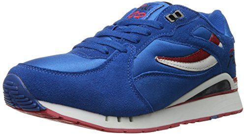 Fila Men's Overpass Fashion Sneaker, Prince Blue/White/Fila Red, 9 M US