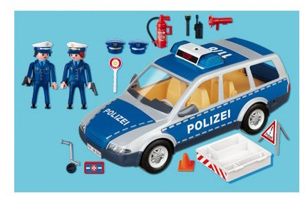 jeux de construction playmobil 4260 jeu de construction voiture de police et patrouille. Black Bedroom Furniture Sets. Home Design Ideas