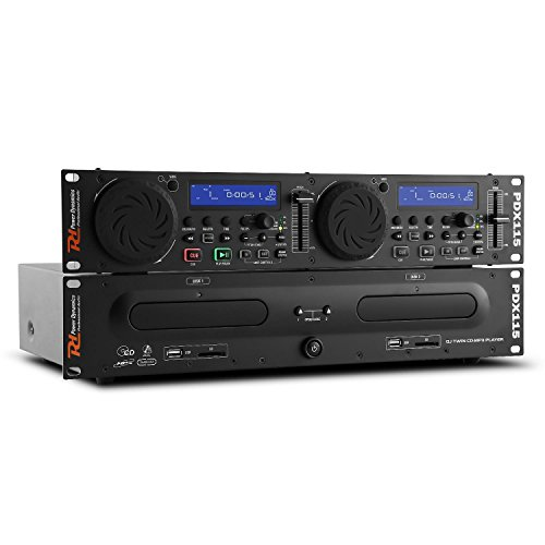 Power Dynamics PDX115 Dual DJ-CD-Player-Controller (USB/SD,...