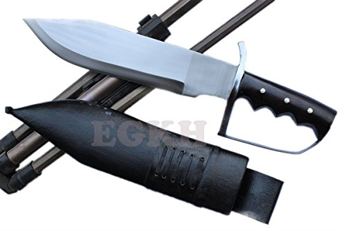 "13"" Large Fighting D-Guard Bowie,Outdoor Khukuri Knife, EGKH Kukri Blade Machete - Handmade By Ex Gurkha Khukuri House"