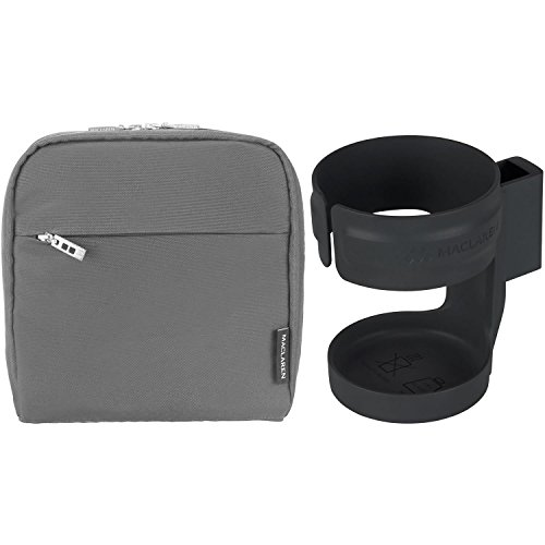 Maclaren Pannier Bag With Cupholder (Charcoal/Black) (Maclaren Quest Cup Holder compare prices)