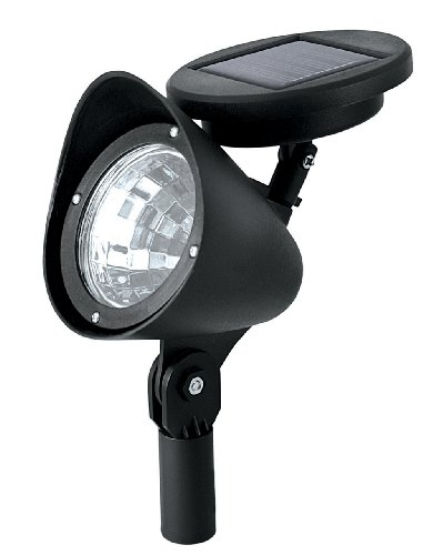 Paradise Gl23836Bk2 Plastic Solar-Powered Led Spot Light, 2 Pack, Black