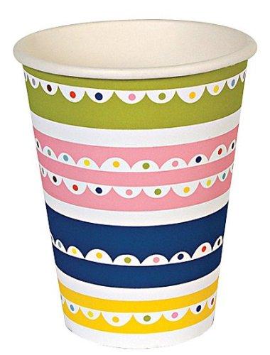 Meri Meri Happy Birthday Patterned Party Cups, 12-Pack