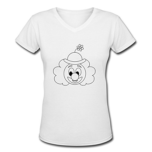 YWT Funny Clown Big Nose Women Clothing Pre-cotton Retro White