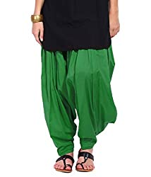 DNK Women's Cotton Patiala Salwar (DNK_0010_Green_Free size)
