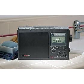C Crane CCRadio Plus Multiband Portable AM/FM/Weather/TV Band Radio, Black