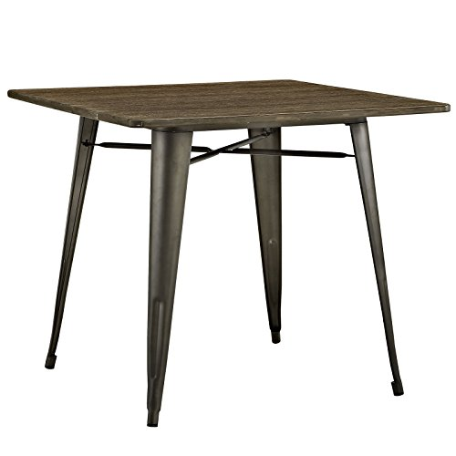 """LexMod Alacrity Square Wood Dining Table, Brown, 36"""" 0"""