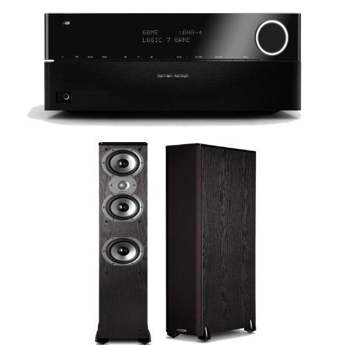 Harman Kardon Avr 3700 7.2 Channel Networking Home Theater Receiver Plus A Pair Of Polk Audio Tsi 400 Floorstanding Speakers