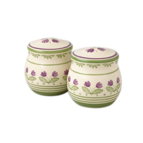 Buy Pfaltzgraff Circle of Kindness Purple Flowers Salt and Pepper Set