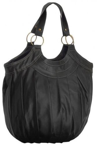 EyeCatchBags - Inca Damen Schultertasche Handtasche Schwarz