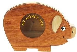 Piggy bank money box with secret lock handcrafted wood for Secret piggy bank