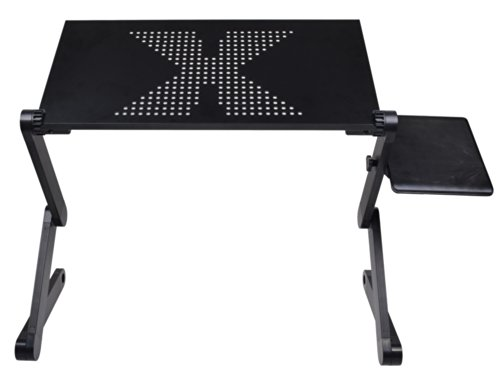 360° Adjustable Foldable Aluminum Laptop Notebook Desk Table Stand Portable Tray front-295282