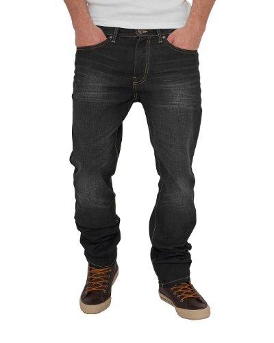 Urban Classics TB376 Loose Fit Jeans Pantalone Uomo Regular Fit Black Coated