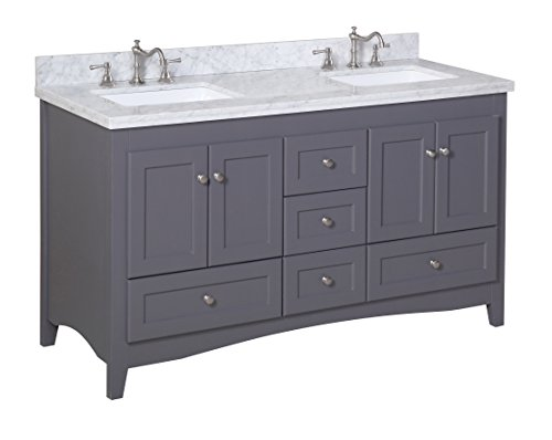 Kitchen-Bath-Collection-KBC38602GYCARR-D-Abbey-Double-Sink-Bathroom-Vanity-with-Marble-Countertop-Cabinet-with-Soft-Close-Function-and-Undermount-Ceramic-Sink-CarraraCharcoal-Gray-60
