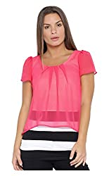 VeaKupia Women's Top (3401--L, Pink, Large)