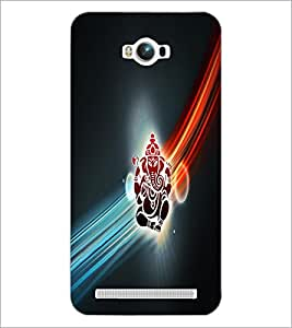 PrintDhaba Lord Ganesha D-4532 Back Case Cover for ASUS ZENFONE MAX ZC550KL (Multi-Coloured)