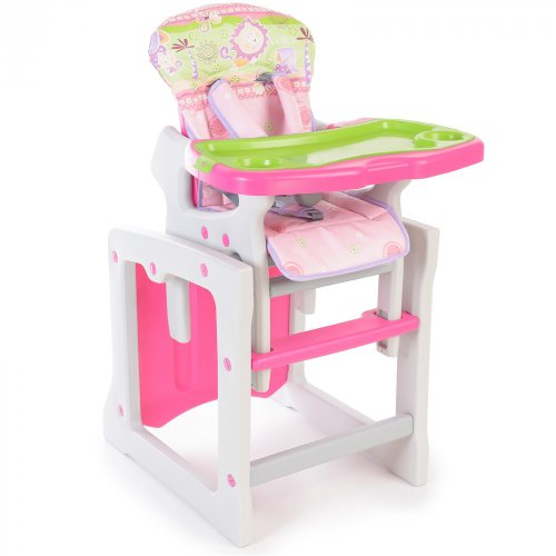 Baby Hochstuhl 2in1 - multifunktionell - Made in EU, Farbdesign:rosa