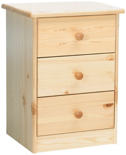 Mario Natural Lacquer 3-Drawer Chest